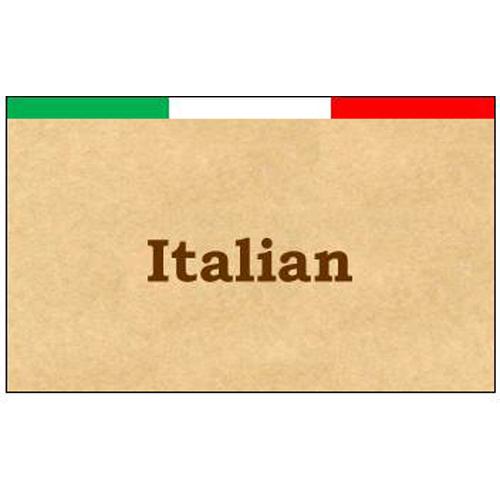 カード イタリアン風 ショップカード(名刺横サイズ・10丁付・A4)