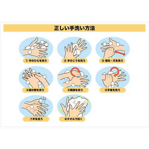 ポスター・チラシ 手洗い(手洗いイラスト・A4)