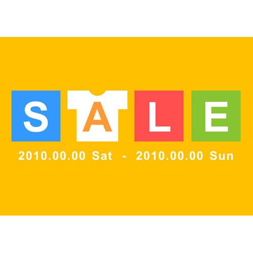 POP SALE(オレンジ・Tシャツ・A4)