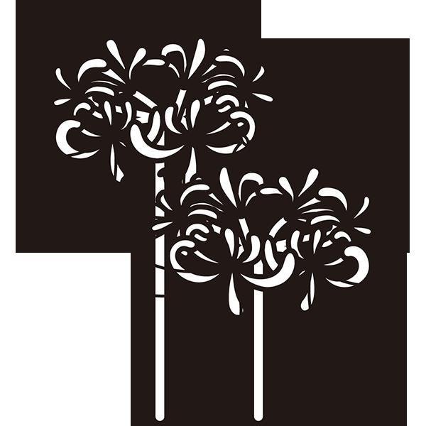 植物 彼岸花(モノクロ)
