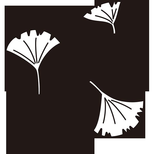 植物 イチョウ(モノクロ)