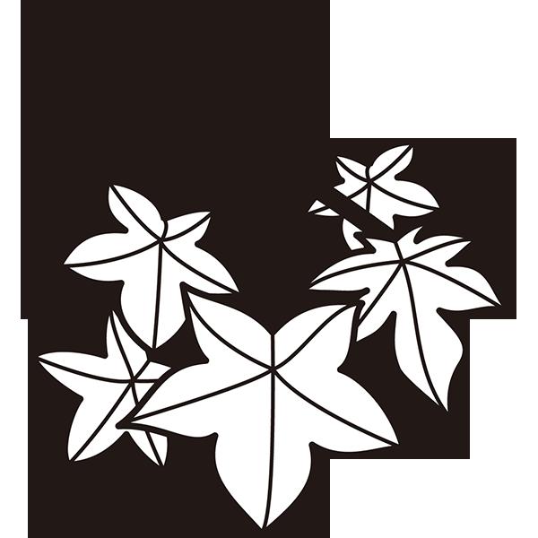植物 もみじ(モノクロ)
