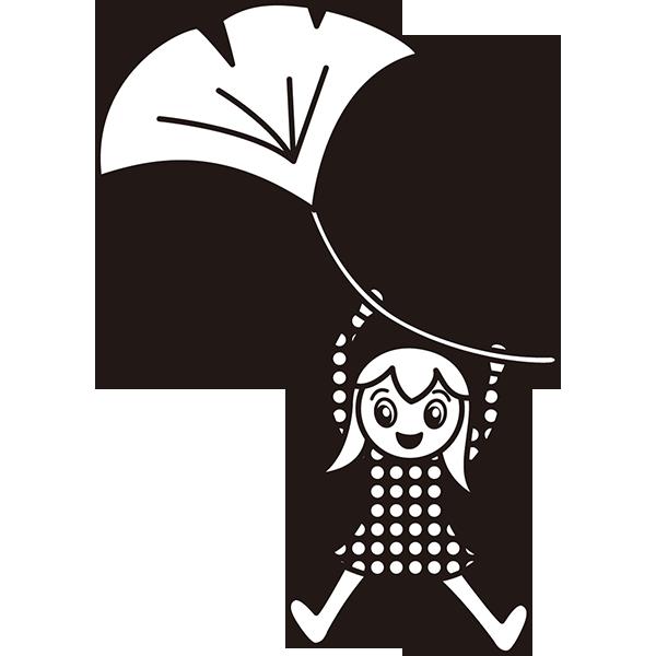 年中行事 イチョウの妖精(モノクロ)