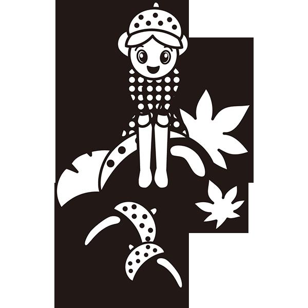 年中行事 どんぐりの妖精(モノクロ)