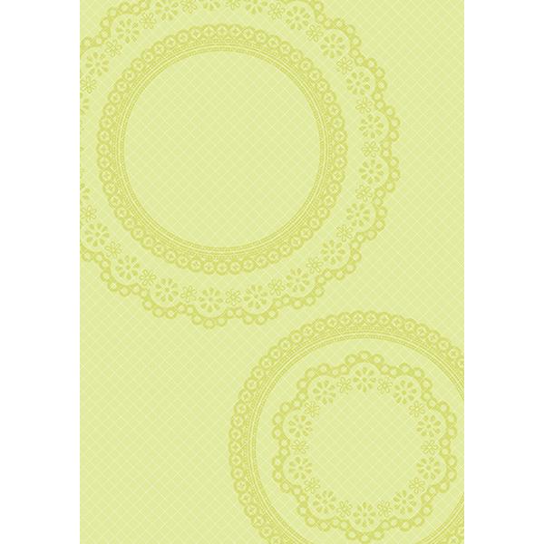 背景画像 グリーンのレース模様(カラー)