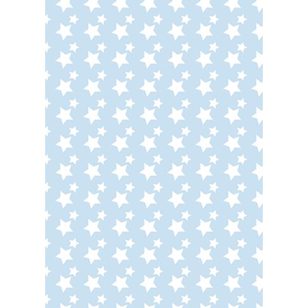 背景画像 星柄(白×ブルー)(カラー)
