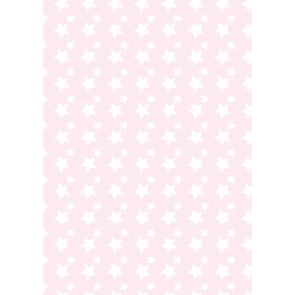 背景画像 星柄(白×ピンク)(カラー)