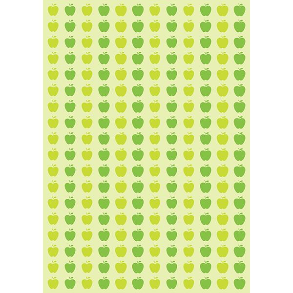 背景画像 大きめのりんご柄(カラー)