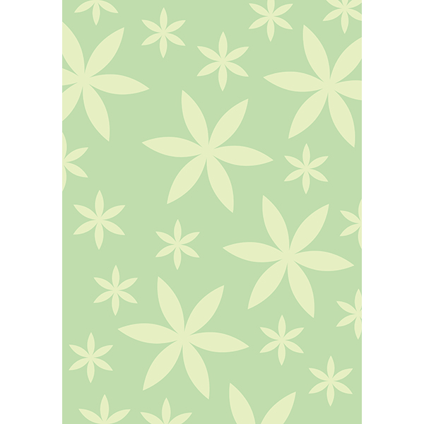 背景画像 薄い緑色の葉っぱ柄2(カラー)