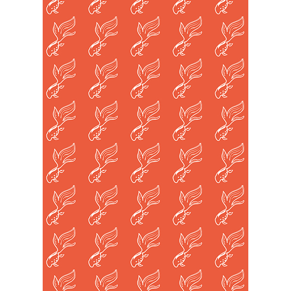 背景画像 オレンジ色の金魚(カラー)