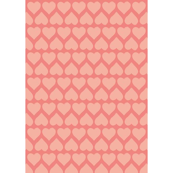 背景画像 ピンク色のハート柄(カラー)