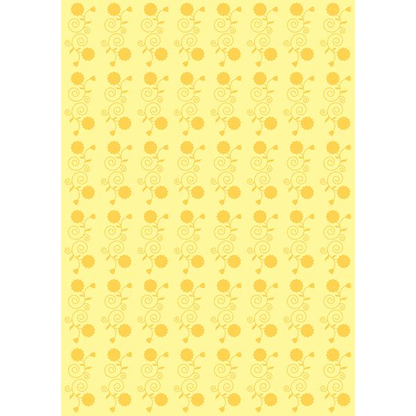 背景画像 黄色の花柄(カラー)