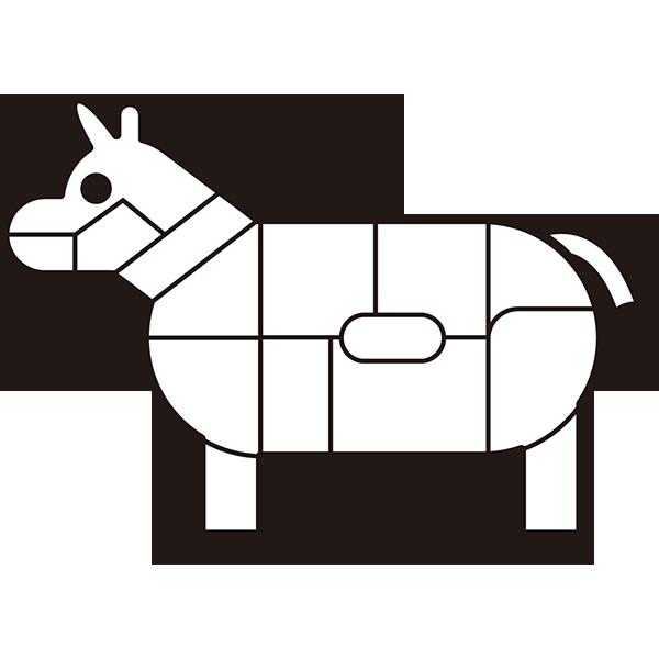 食品 肉の部位(牛)(モノクロ)