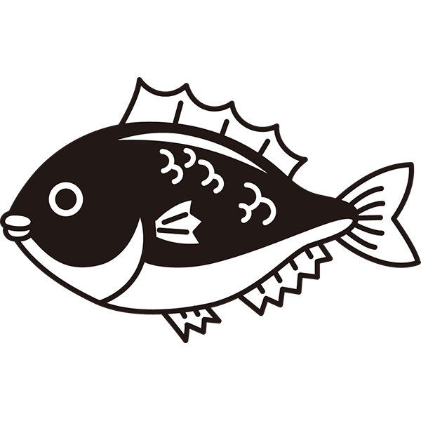 食品 鯛(タイ)(モノクロ)