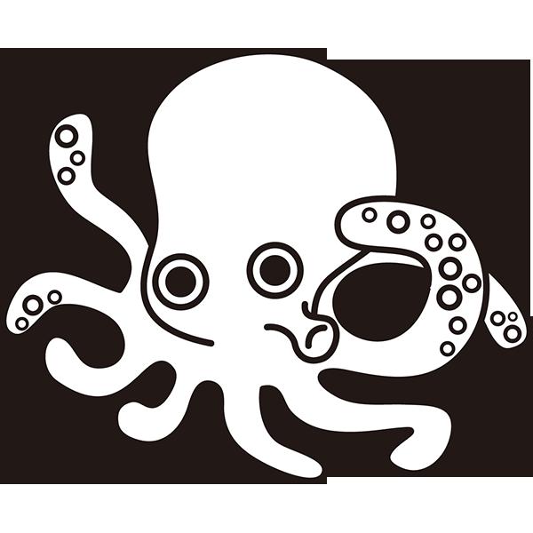 食品 蛸(タコ)(モノクロ)