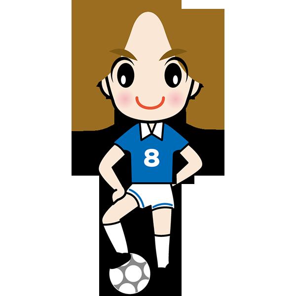 人物 サッカー選手(カラー)