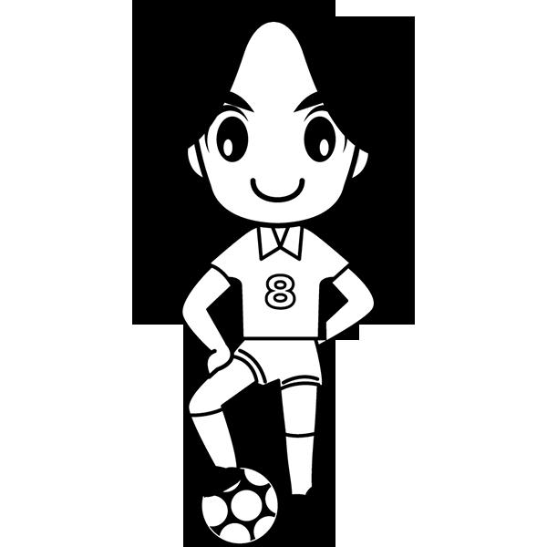 人物 サッカー選手(モノクロ)