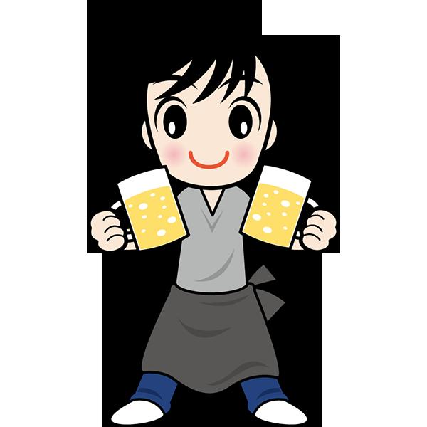 人物 居酒屋店員(カラー)
