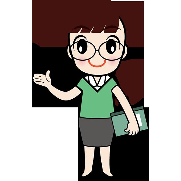 人物 教師(学校の先生)(カラー)