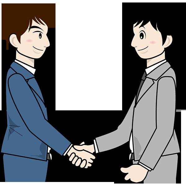 人物 握手(ビジネスシーン)(カラー)