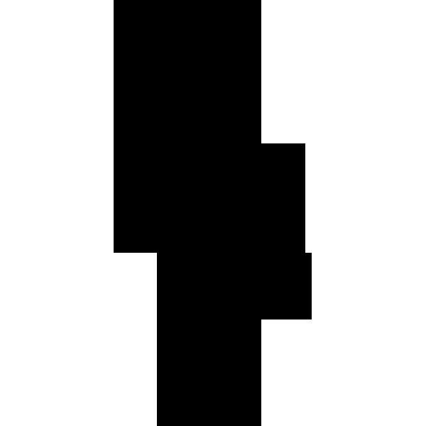 人物 ビジネスマン(シルエット)(モノクロ)