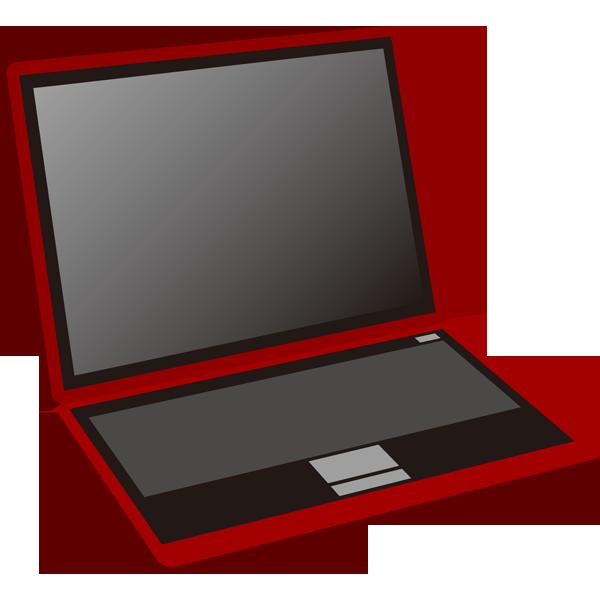ビジネス ノートパソコン(オフィス機器・赤)(カラー)