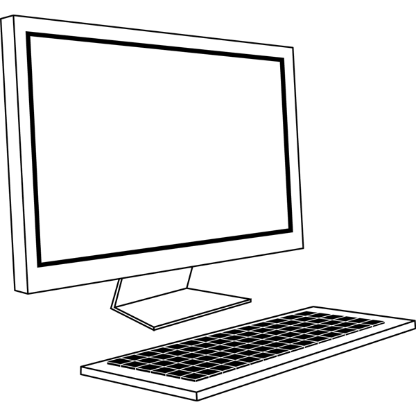 ビジネス デスクトップパソコン(オフィス機器)(モノクロ)