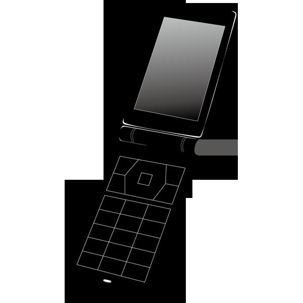 ビジネス 携帯電話(二つ折り・黒)(カラー)