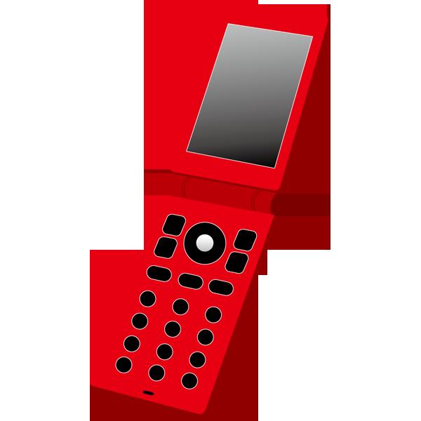 ビジネス 携帯電話(二つ折り・赤)(カラー)