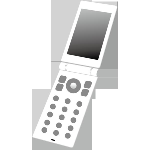ビジネス 携帯電話(二つ折り・白)(カラー)
