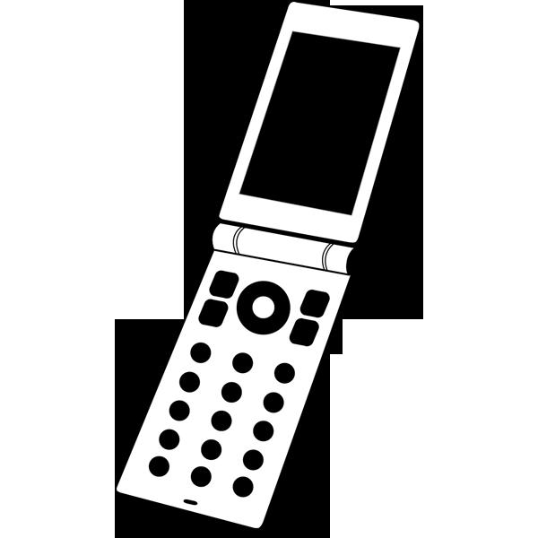 ビジネス 携帯電話(二つ折り)(モノクロ)