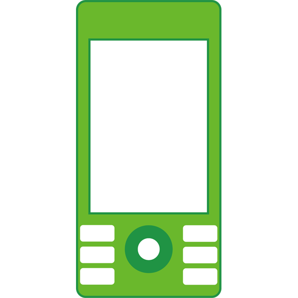 ビジネス 携帯電話(緑)(カラー)