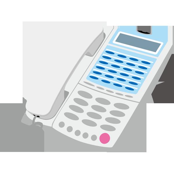 ビジネス オフィス電話(白)(カラー)