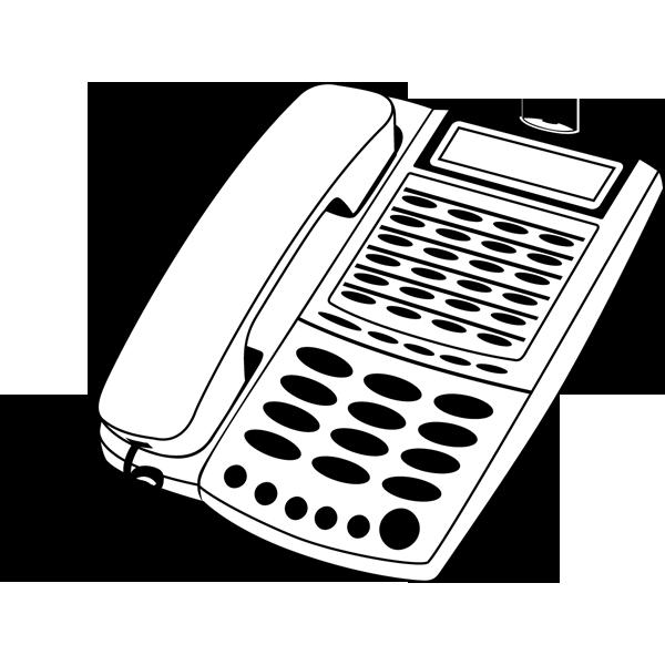 ビジネス オフィス電話(モノクロ)