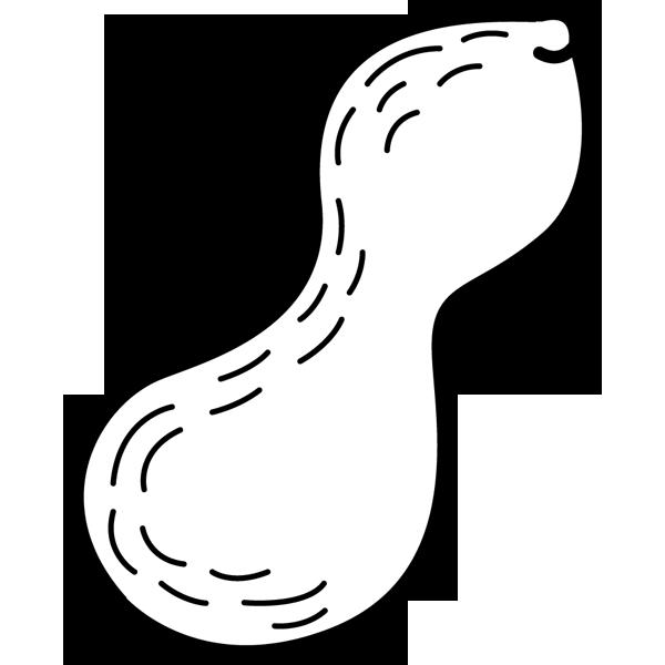 食品 落花生(らっかせい)(モノクロ)