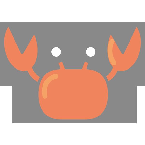 食品 蟹(カニ)(カラー)