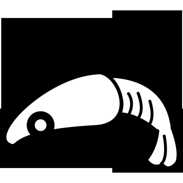 食品 海老(エビ)(モノクロ)