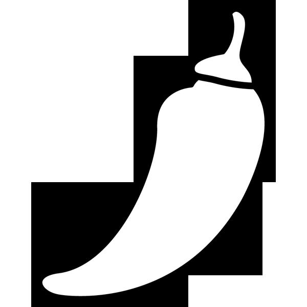 食品 唐辛子(とうがらし)(モノクロ)
