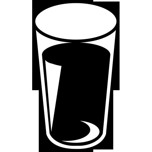 食品 水(飲料水)(モノクロ)