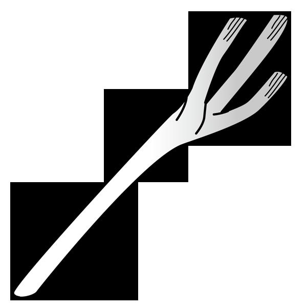 食品 葱(ネギ)(モノクロ)
