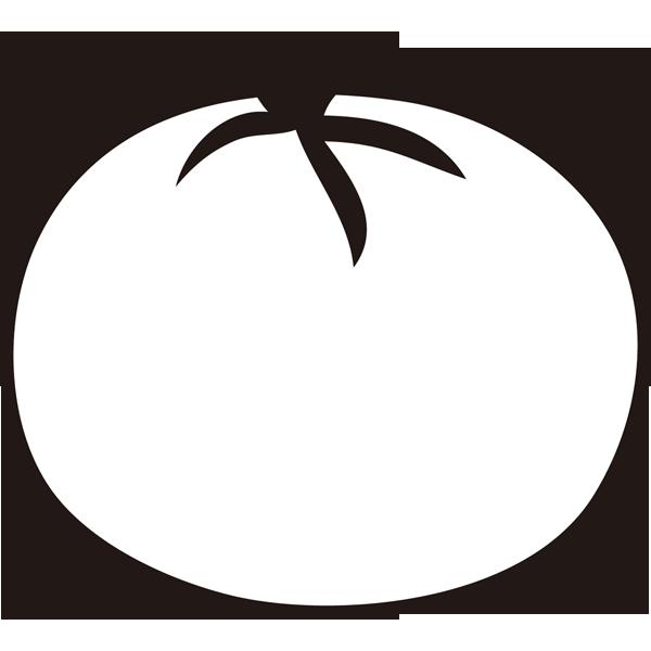 食品 トマト(モノクロ)