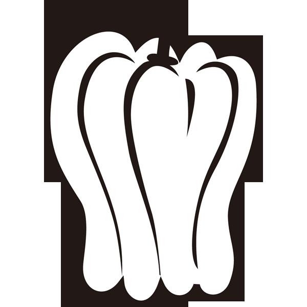 食品 ピーマン(モノクロ)