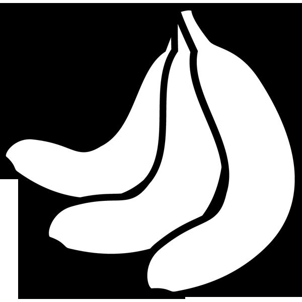 食品 バナナ(モノクロ)