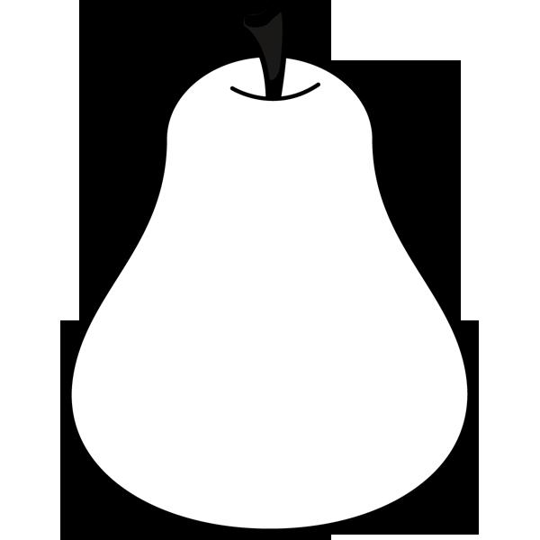 食品 洋梨(ラフランス)(モノクロ)