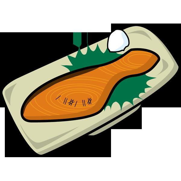 食品 鮭(焼き鮭)(カラー)