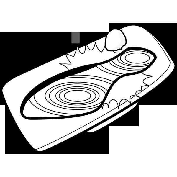 食品 鮭(焼き鮭)(モノクロ)