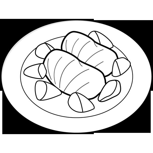 食品 ロールキャベツ(モノクロ)
