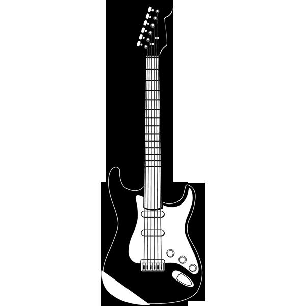 音楽 エレキギター(モノクロ)