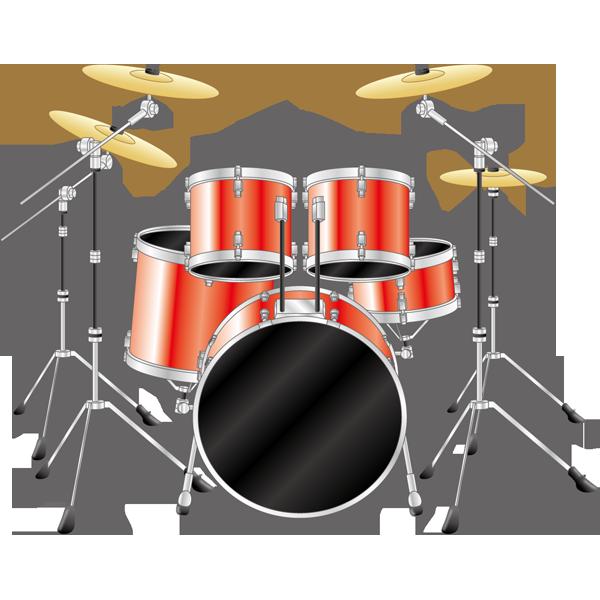 音楽 ドラムセット(赤)(カラー)