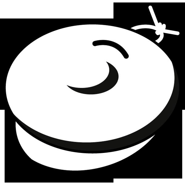 音楽 カスタネット(モノクロ)